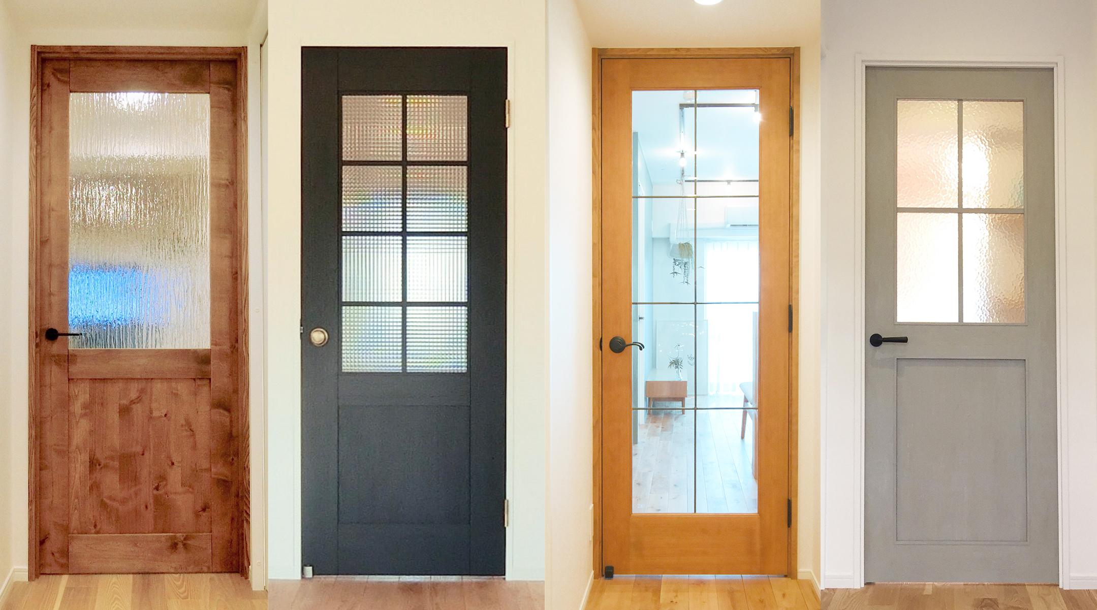 ドア4枚が並んだ、探すイメージ画像