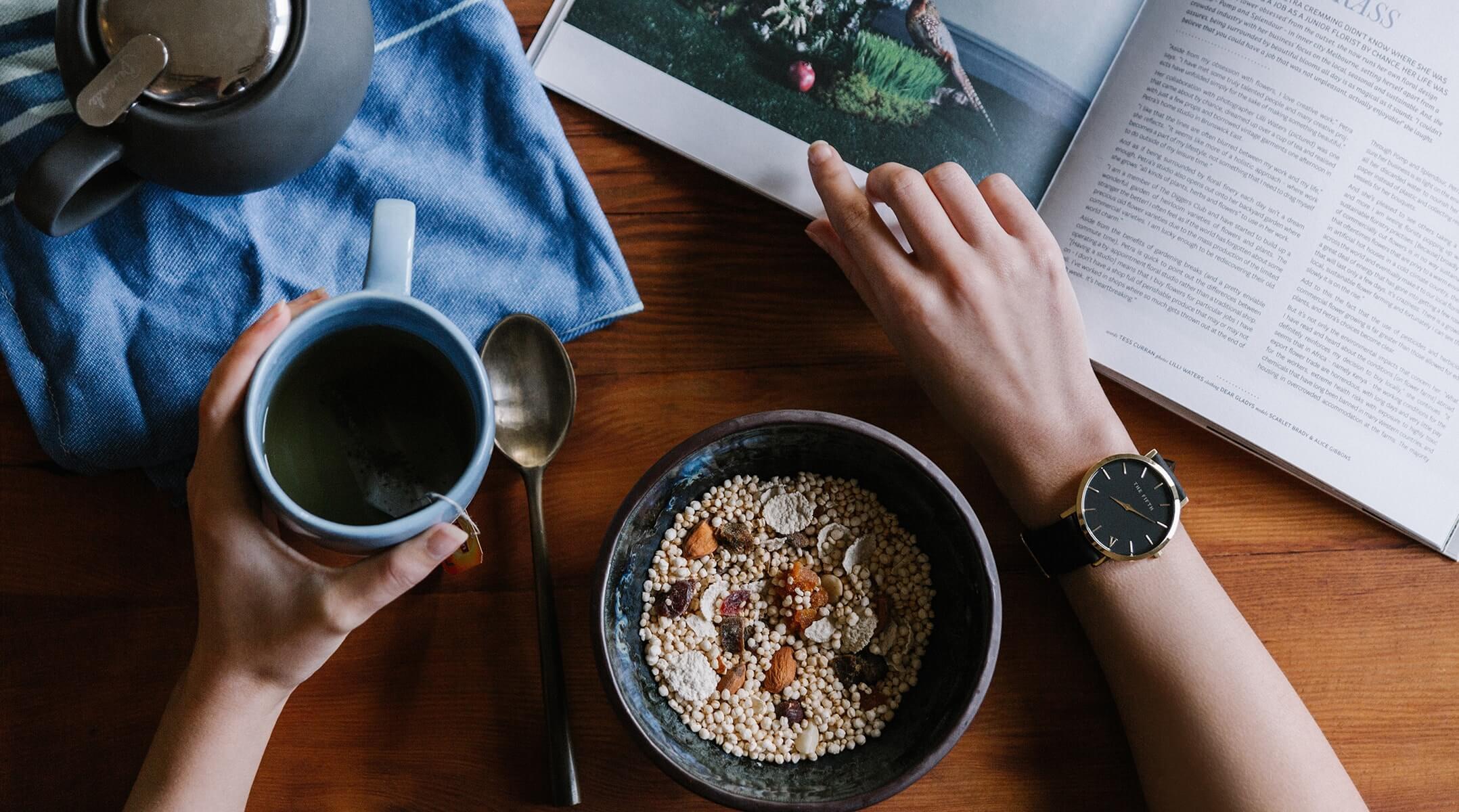 本やオーガニックの食事など、くらしのイメージ画像